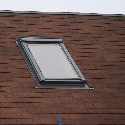 skylight in an asphalt roof